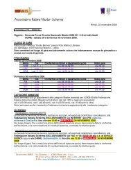 2008-09X Oggetto: Seconda Prova Circuito Nazionale Master 2008 ...