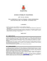 Avviso di mobilità esterna Educatori Asili Nido - Comune di Pitigliano
