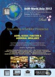 Prospectus [PDF] - American Academy of Anti-Aging Medicine