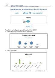 classe 1 B as 2011 2012 alunni Alunni 27 tempo casa scuola modalità