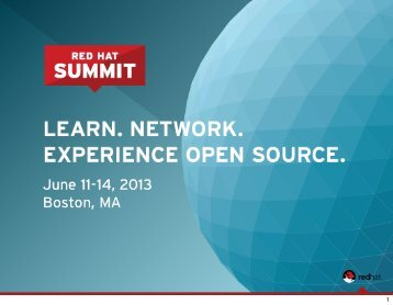 OpenStack - Red Hat Summit