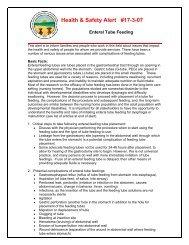 Enternal Tube Feeding