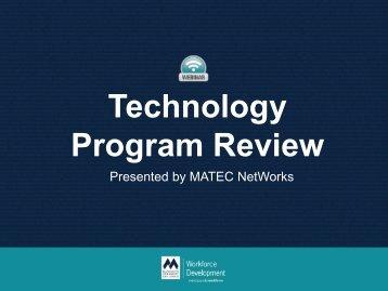 Technology Program Review - MATEC NetWorks