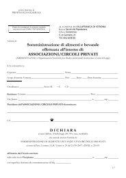 ASSOCIAZIONI/CIRCOLI PRIVATI - Comune di VILLAFRANCA DI ...