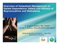 Overview of Outpatient Management of Opiate Dependence: Safety and ...
