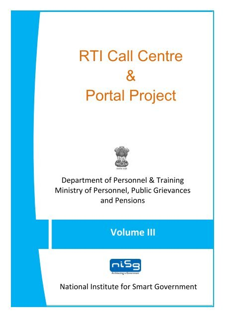 RFP Volume III - Right to Information Act