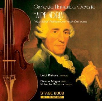 scarica il booklet - Orchestra Filarmonica Giovanile Alpe Adria