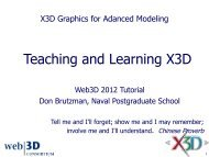 Teaching and Learning X3D - Extensible 3D Graphics for Web Authors