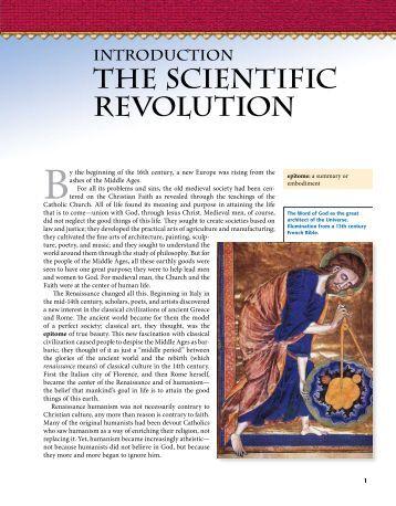 the scientific revolution - The Catholic Schools Textbook Project