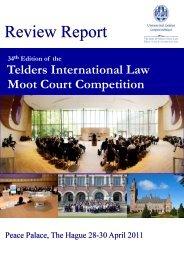 Telders Review Report 2011 - Grotius Centre for International Legal ...