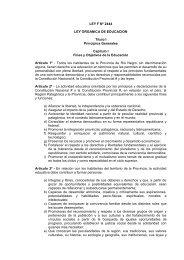 ley organica de educacion - UnTER