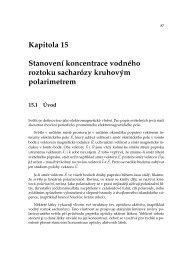 Kapitola 15 Stanovení koncentrace vodného roztoku sacharózy ...