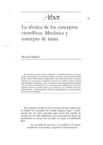 La técnica de los conceptos científicos. Mecánica y ... - c3si.org