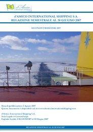 Relazione Finanziaria - Investor Relations - Tanker