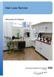 Hair Loss Service - Library - University Hospitals of Leicester NHS ...