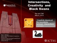 Intersections, Creativity and Black Swans - Institute for Critical ...