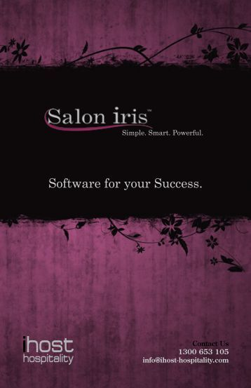 Software for your Success. - iHost Hospitality