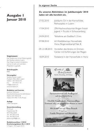 Stadtturner 01/10 - STV Luzern