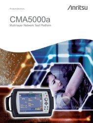 CMA5000a brochure - Advanced Test Equipment Rentals