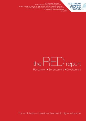 the REDreport - cadad