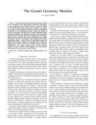 The Geant4 Geometry Modeler - Cern