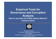 Empirical Tools For Governance And Corruption Analysis Recantini ...