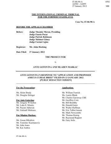 Application and proposed Amicus Curiae Brief