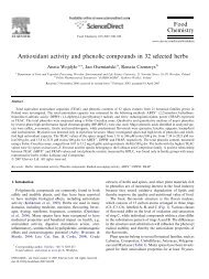 Antioxidant activity and phenolic compounds in 32 selected herbs ...