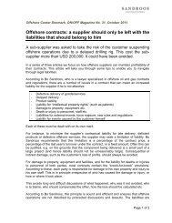 Offshore contracts: a supplier should only be left with the liabilities ...