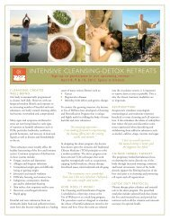 INTENSIVE CLEANSING-DETOX RETREATS - Tao of Wellness