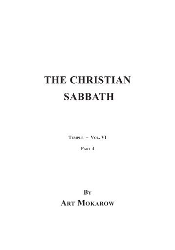 The Christian Sabbath Book - God's Puzzle Solved