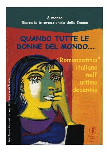 """""""Romanzatrici"""" italiane nell'ultimo decennio Biblioteca civica ..."""