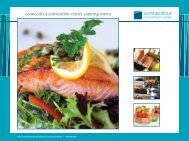 Download the Menus & Guidelines - Connecticut Convention Center