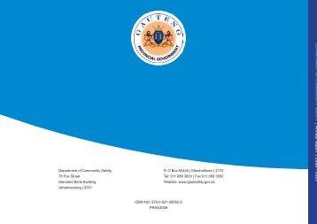 Community Safety Annual Report 2008-2009 part 1 - Gauteng Online
