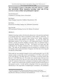 The toxicological response of Brazilian chrysotile ... - Crisotila Brasil