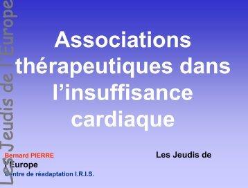 Associations thérapeutiques dans l'insuffisance cardiaque