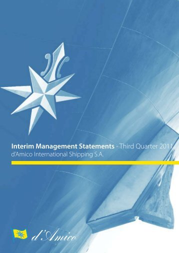 Interim Management Statements - Investor Relations - Tanker