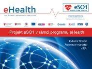 Projekt eSO1 v rámci programu eHealth