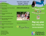 May 1st, 2010 - Children's Friend