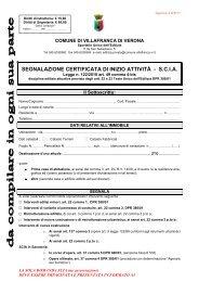 segnalazione certificata di inizio attività - Comune di VILLAFRANCA ...