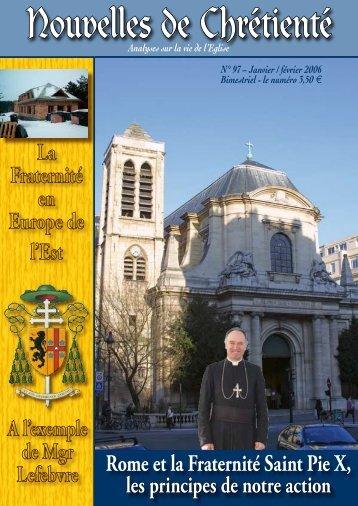 Conférence de Mgr Bernard Fellay, à Paris, le 11 décembre ... - Dici