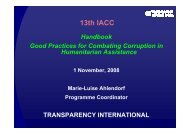Good Practices For Combating Corruption In Humanitarian Assistance