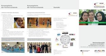 Kursangebote der Partnerverbände - Integration durch Sport
