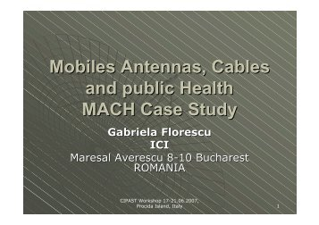Mobiles Antennas, Cables and public Health MACH Case ... - cipast