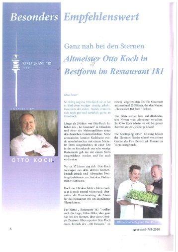 Gour-med, Altmeister Otto Koch in Bestform, 7 - Restaurant 181