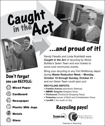 Caught in the Act . . . and Proud of It! - Recycle More