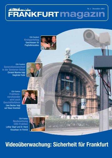 Nr. 2 Dezember 2003 - CDU-Kreisverband Frankfurt am Main