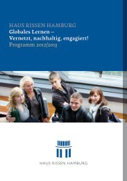 HAUS RISSEN HAMBURG Globales Lernen – Vernetzt, nachhaltig ...