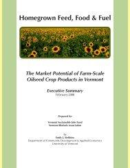 Executive Summary - Vermont Sustainable Jobs Fund