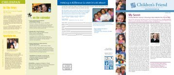 Spring 2007 Newsletter - Children's Friend